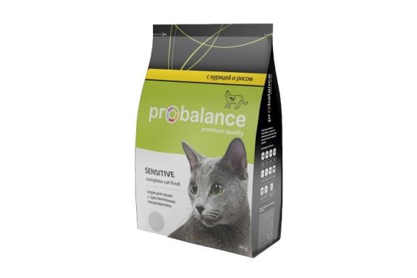 ProBalance Sensitive для кошек с чувствительным пищеварением, Курица и Рис, 400 г