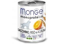 Monge Dog Monoproteico Fruits монобелковый паштет для собак из индейки с рисом и цитрусовыми, 400 г