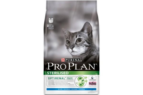 Pro Plan Sterilised Сухой корм для стерилизованных кошек с кроликом, 1,5 кг