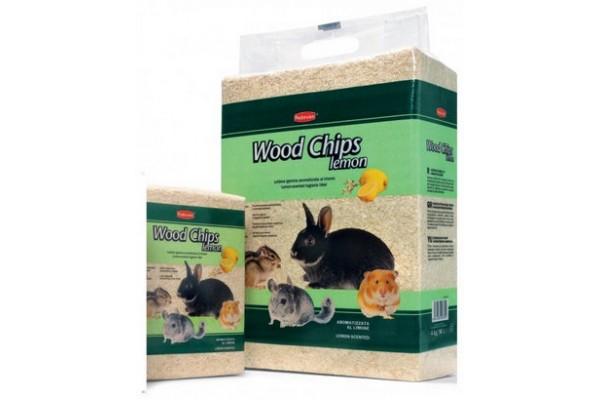 Padovan Wood Chips lemon прессованные древесные опилки Падован с запахом лимона для грызунов 56л, 4 кг