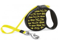 Рулетка Flexi NEON (до 50 кг, лента 5 м, черный), размер L