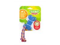 ТитБит Игрушка жевательная Косточка 10 см (голубой)