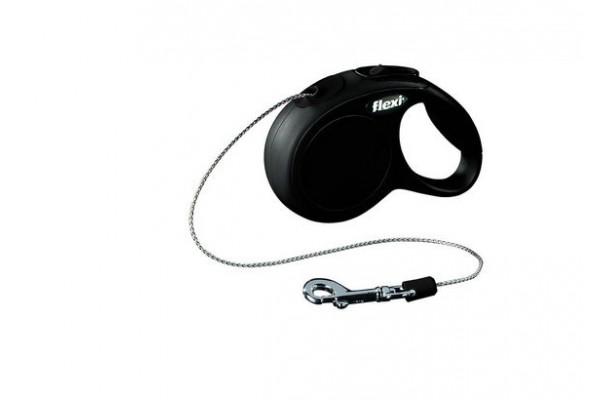 Поводок-рулетка для собак до 8 кг, 3 м, Flexi New Classic cord XS 3m 8 kg