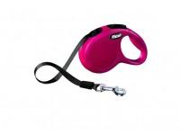 Поводок-рулетка для собак до 12 кг, 3 м, Flexi New Classic tape XS 3m 12 kg