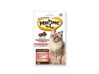 Мнямс хрустящие подушечки для кошек Здоровая кожа и шерсть, 60 г