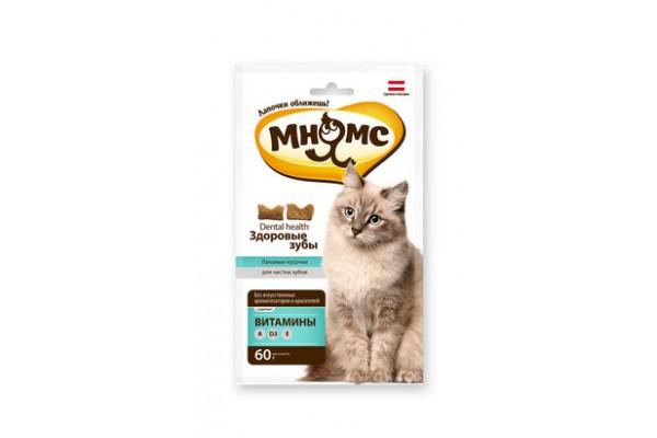 Мнямс хрустящие подушечки для кошек Здоровые зубы, 60 г