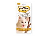 Мнямс лакомые палочки для кошек цыпленок+утка, 1 шт