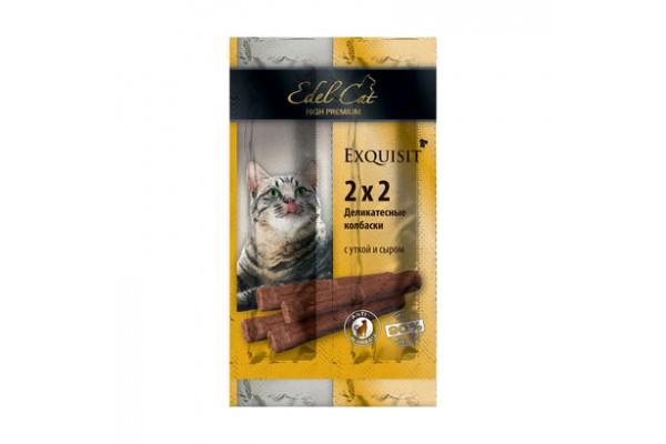 Edel Cat Колбаски-мини деликатесные с уткой и сыром, 4 шт
