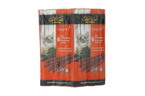 Edel Cat колбаски с ягнёнком и индейкой, 6 шт