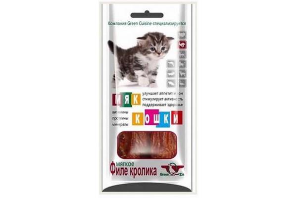 Грин Кьюзин (Green Qzin) лакомство для кошек Мяккошки (мягкое филе телёнка), 25 г