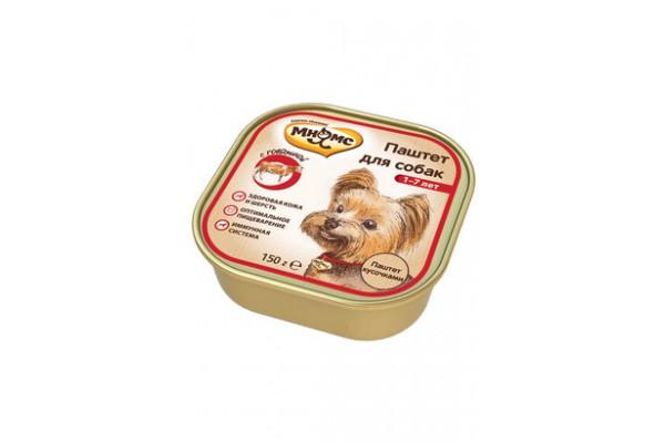 Мнямс консервы для собак с говядиной, 150 г (паштет)