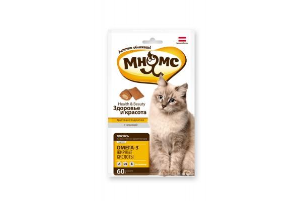 Мнямс хрустящие подушечки для кошек Здоровье и красота, 60 г