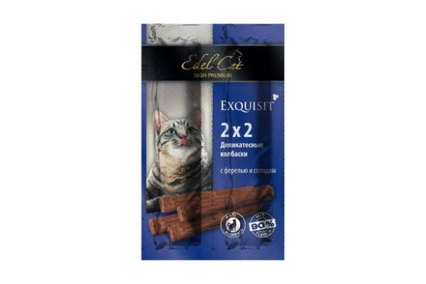 Edel Cat Колбаски-мини деликатесные с форелью и солодом, 4 шт