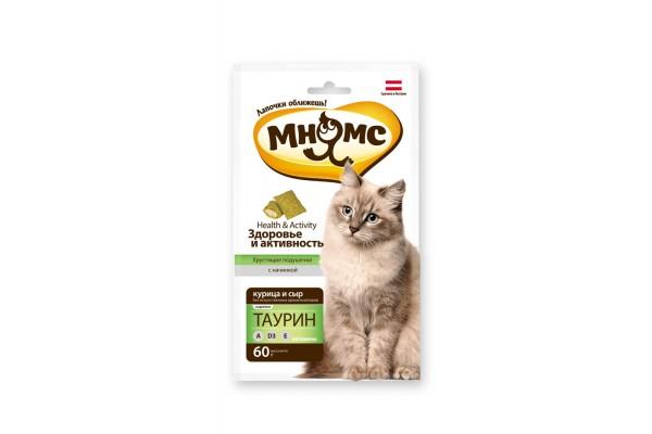 Мнямс хрустящие подушечки для кошек Здоровье и активность, 60 г