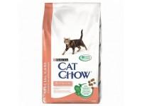 Cat Chow Special Care Sensitive сухой корм для кошек с чувствительной кожей и пищеварением, а также склонных к аллергиям, 1,5 кг