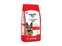 Счастливый пес Энергия для взрослых собак с высокой активностью Курица и говядина, 3 кг