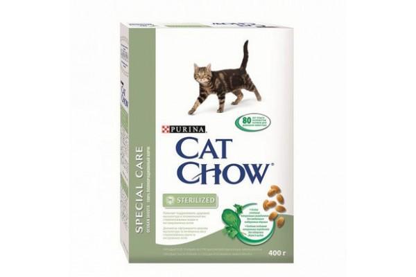 Cat Chow Special Care Sterilized сухой корм для кастрированных котов и стерилизованных кошек, 400 г