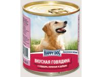 Happy Dog Natur Line консервы для собак Вкусная говядина с сердцем, печенью и рубцом, 750 г